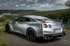 2017 Nissan GT-R Coupe Track Edition in Super Silver Metallic from a rear left view