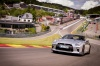Driving 2017 Nissan GT-R Coupe Track Edition in Super Silver Metallic from a frontal view