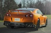 2017 Nissan GT-R Coupe Premium in Blaze Metallic from a rear right view