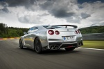 2017 Nissan GT-R Coupe Track Edition in Super Silver Metallic - Driving Rear Left View