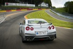 2017 Nissan GT-R Coupe Track Edition in Super Silver Metallic - Driving Rear View