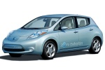 2011 Nissan Leaf in Blue Ocean - Static Front Left Three-quarter View