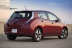 2015 Nissan Leaf in Cayenne Red - Static Rear Right Three-quarter View