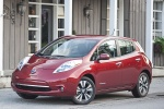 Picture of 2015 Nissan Leaf in Cayenne Red