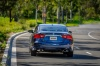 2016 Nissan Maxima SR Sedan in Deep Blue Pearl from a rear view
