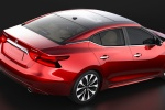 2016 Nissan Maxima Platinum Sedan in Coulis Red - Static Rear Right Three-quarter View