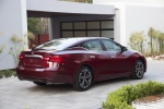 2016 Nissan Maxima Platinum Sedan in Coulis Red - Static Rear Right View