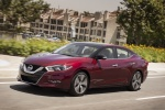 2016 Nissan Maxima Platinum Sedan in Coulis Red - Driving Front Left View