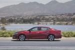 2016 Nissan Maxima Platinum Sedan in Coulis Red - Driving Left Side View