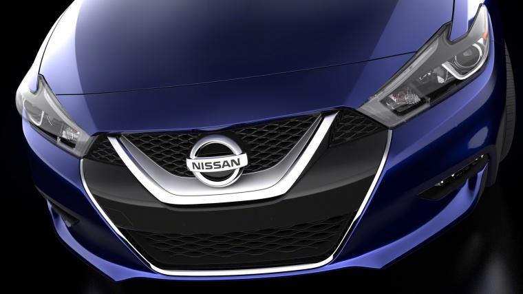 2017 Nissan Maxima SR Sedan Headlights Picture
