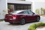 2018 Nissan Maxima Platinum Sedan in Red - Static Rear Right View