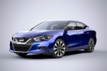 2018 Nissan Maxima SR Sedan in Deep Blue Pearl - Static Front Left Three-quarter View