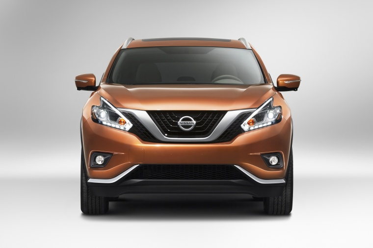 Picture of a 2017 Nissan Murano in Pacific Sunset Metallic from a frontal perspective