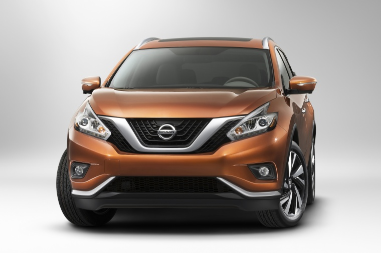 Picture of a 2017 Nissan Murano in Pacific Sunset Metallic from a front left perspective