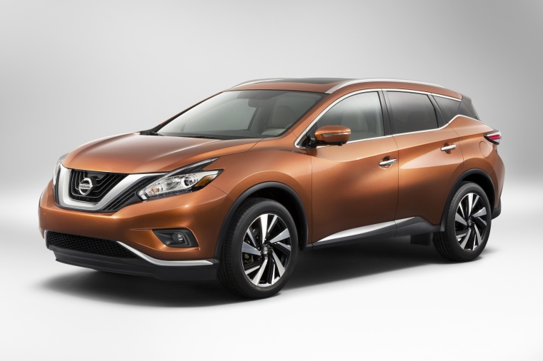 Picture of a 2017 Nissan Murano in Pacific Sunset Metallic from a front left three-quarter perspective