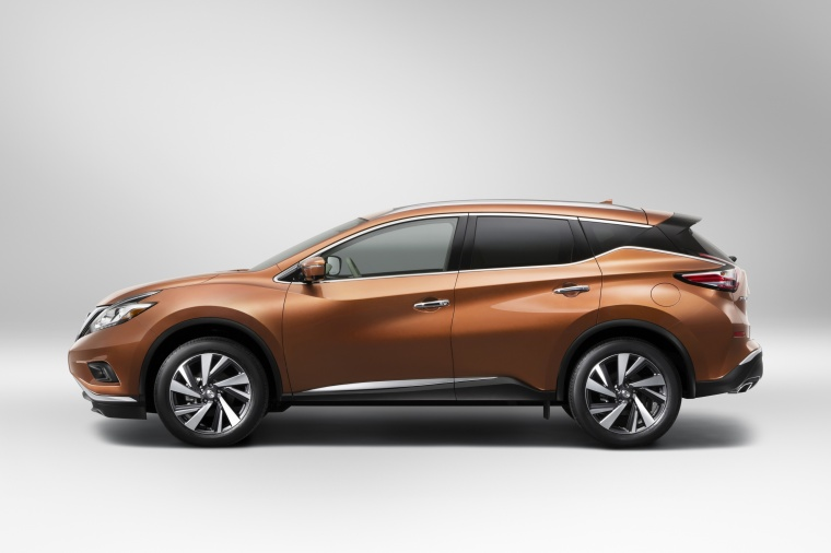 Picture of a 2017 Nissan Murano in Pacific Sunset Metallic from a side perspective