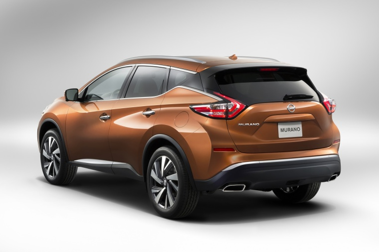 2017 Nissan Murano in Pacific Sunset Metallic from a rear left view