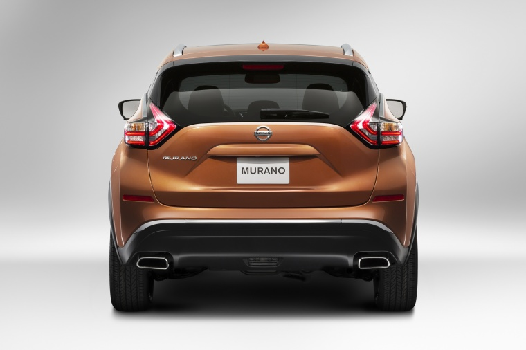 Picture of a 2017 Nissan Murano in Pacific Sunset Metallic from a rear perspective