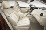 Picture of a 2017 Nissan Murano's Front Seats in Beige
