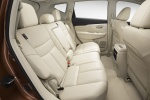 Picture of a 2017 Nissan Murano's Rear Seats in Beige