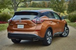 Picture of a 2017 Nissan Murano Platinum AWD in Pacific Sunset Metallic from a rear right perspective