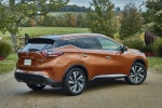 Picture of a 2017 Nissan Murano Platinum AWD in Pacific Sunset Metallic from a rear right three-quarter perspective