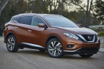 Picture of a 2017 Nissan Murano Platinum AWD in Pacific Sunset Metallic from a front right three-quarter perspective