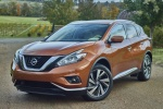 Picture of a 2017 Nissan Murano Platinum AWD in Pacific Sunset Metallic from a front left perspective