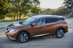 Picture of a 2017 Nissan Murano Platinum AWD in Pacific Sunset Metallic from a front left three-quarter perspective