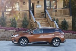 Picture of a 2017 Nissan Murano Platinum AWD in Pacific Sunset Metallic from a side perspective