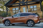 Picture of a 2017 Nissan Murano Platinum AWD in Pacific Sunset Metallic from a rear left three-quarter perspective