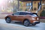 Picture of a 2017 Nissan Murano Platinum AWD in Pacific Sunset Metallic from a rear left perspective