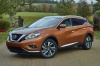 2018 Nissan Murano Platinum AWD in Pacific Sunset Metallic from a front left three-quarter view