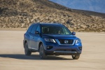 2018 Nissan Pathfinder Platinum 4WD in Caspian Blue - Driving Front Right View