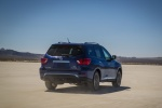 2018 Nissan Pathfinder Platinum 4WD in Caspian Blue - Driving Rear Right View