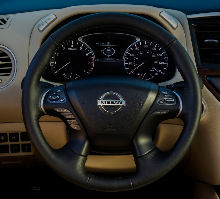 Picture of a 2020 Nissan Pathfinder Platinum's Steering-Wheel