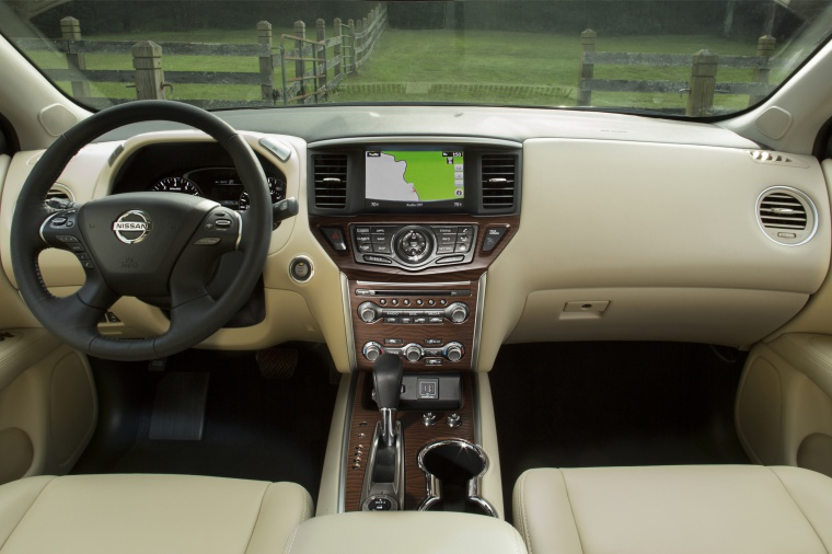 Picture of a 2020 Nissan Pathfinder Platinum 4WD's Cockpit