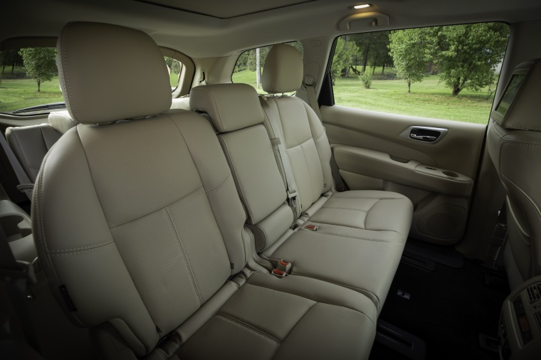 Picture of a 2020 Nissan Pathfinder Platinum 4WD's Rear Seats
