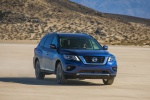 2020 Nissan Pathfinder Platinum 4WD in Caspian Blue Metallic - Driving Front Right View