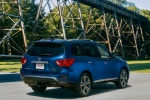 2020 Nissan Pathfinder Platinum 4WD in Caspian Blue Metallic - Static Rear Right Three-quarter View
