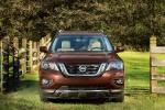Picture of a 2020 Nissan Pathfinder Platinum 4WD in Mocha Almond Pearl from a frontal perspective