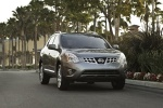 2012 Nissan Rogue SV with SL Package AWD in Platinum Graphite - Driving Frontal View