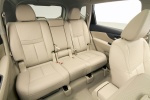 Picture of a 2014 Nissan Rogue SL AWD's Rear Seats in Almond