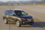 Picture of a 2014 Nissan Rogue SL AWD in Super Black from a front right three-quarter perspective