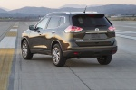 Picture of a 2014 Nissan Rogue SL AWD in Super Black from a rear left perspective
