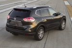 Picture of a 2016 Nissan Rogue SL AWD in Magnetic Black from a rear right three-quarter perspective