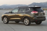 Picture of a 2016 Nissan Rogue SL AWD in Magnetic Black from a rear left three-quarter perspective