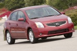 2010 Nissan Sentra SL Sedan in Red Brick Pearl - Driving Front Right Three-quarter View