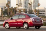 2011 Nissan Sentra SL Sedan in Red Brick Pearl - Static Rear Left Three-quarter View