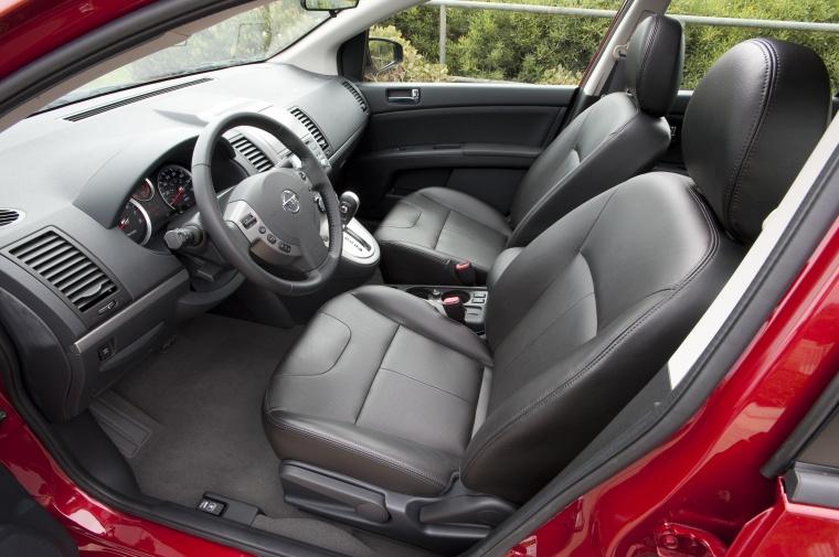 2012 Nissan Sentra SL Sedan Front Seats Picture